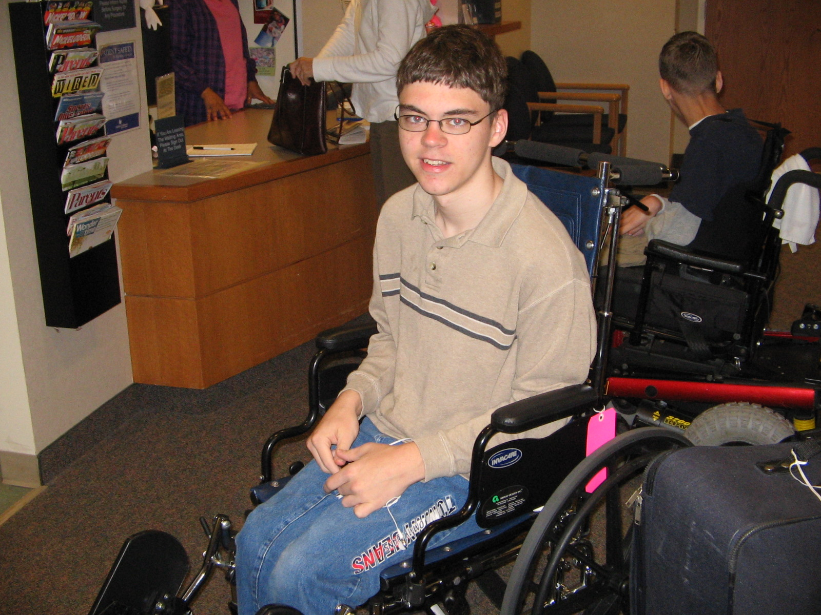 Michael with Cerebral Palsy